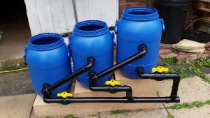 Diy pond filter the ultimate in self build easy clean for Pond water filtration systems home