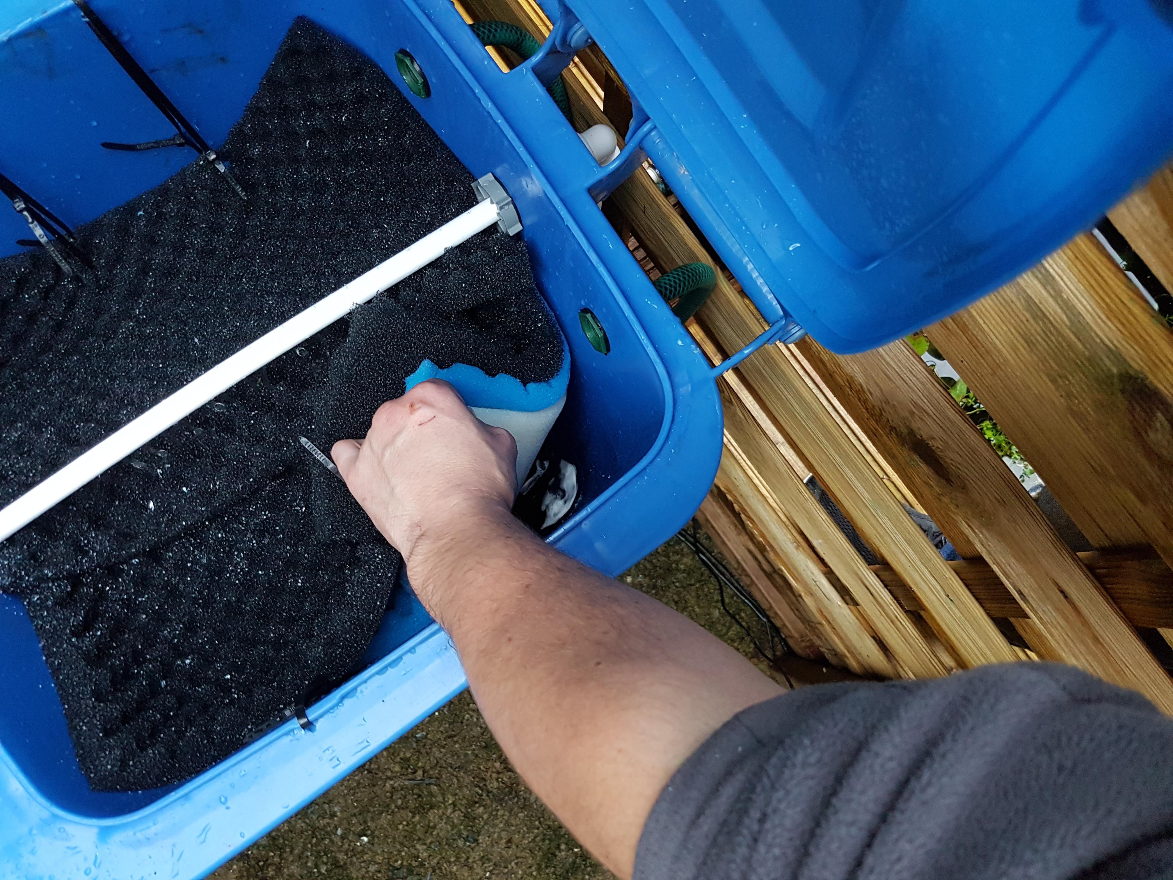 Diy pond filters for Pond pre filter diy